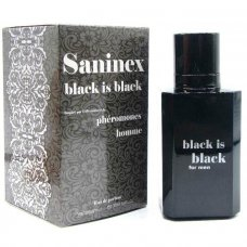 Saninex Pheromones for Men Black is Black feromonos parfüm férfiaknak 100ml