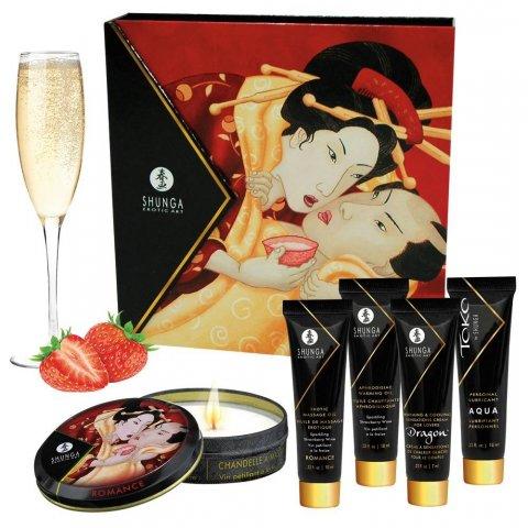 SHUNGA Geisha - síkosító, masszázsolaj és gyertya szett (5 részes)