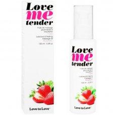 Love to Love Me Tender melegítő masszázsolaj - eper