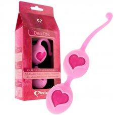 Feelztoys Desi Pink szívecskés gésagolyók - rózsaszín