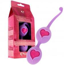 Feelztoys Desi Purple szívecskés gésagolyók - lila