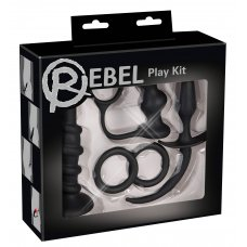 Rebel - anál dildó szett - fekete (5 részes)