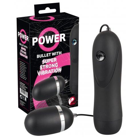 Power - extra erős vibrációs tojás (fekete)