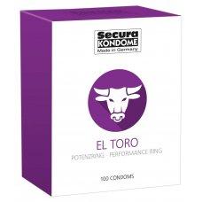 Secura El Toro - potenciagyűrűs óvszerek (100db)