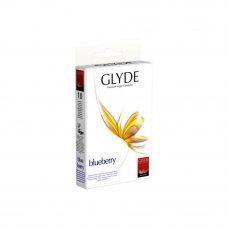 GLYDE vegán óvszer - Fekete áfonya (10db)