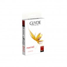 GLYDE vegán óvszer - Maxi piros (10db)