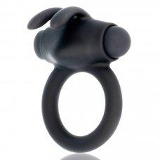 BLACK&SILVER Agron péniszgyűrű 10 vibrációs móddal - fekete