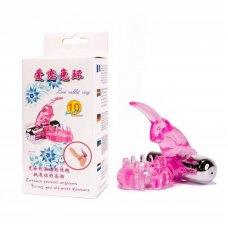 Rózsaszín Nyuszis vibrátoros péniszgyűrű