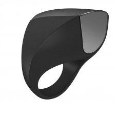 OVO A1 USB újratölthető péniszgyűrű - fekete/króm