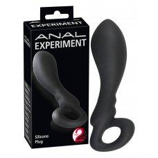Experiment - Hurkos anál dildó (fekete)