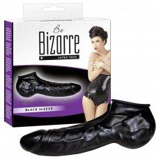 Latex pénisz-és hereköpeny(fekete) - Be Bizarre