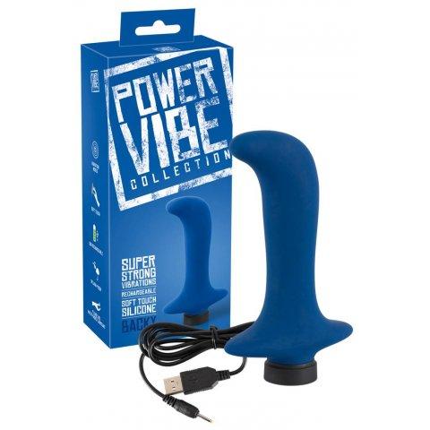 Power Vibe Backy - akkus G+P vibrátor (sötétkék)