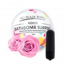 Big Teaze Toys - fürdőbombába rejtett minivibrátor (rózsa)