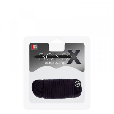BondX Bondage kötél (10m) - Fekete