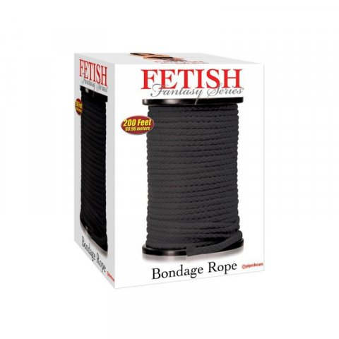 Fetish Fantasy bondage kötél (61m) - Fekete
