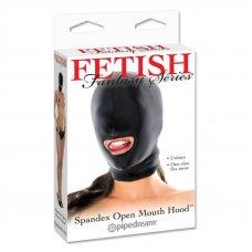 Fetish Fantasy spandex arcmaszk szájnyílással - Fekete