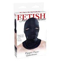 Fetish Fantasy cipzáros arcmaszk - Fekete