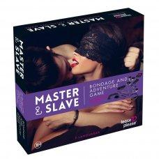 Master & Slave - kötözős játék szett (lila-fekete)