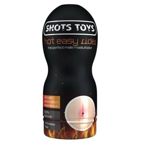 Shots Toys Easy Rider Hot anál maszturbátor melegítő síkosítóval