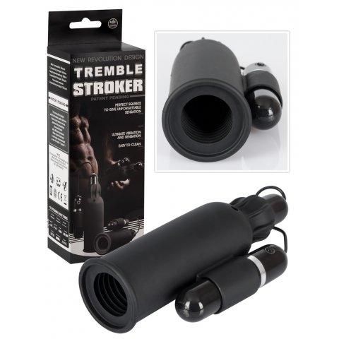 Tremble STROKER - vibráló maszturbátor férfiaknak (fekete)