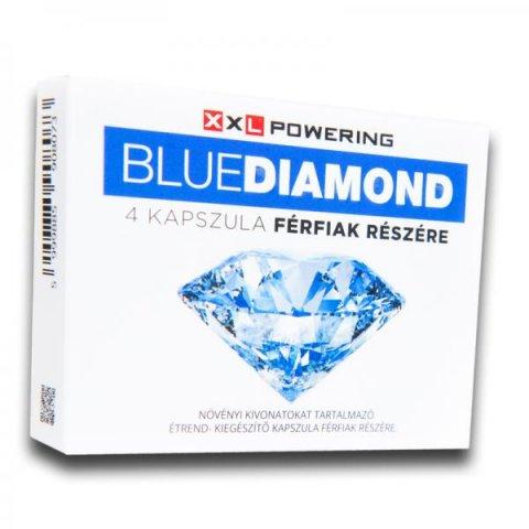"""Blue """"Kék gyémánt"""" Diamond Kapszula Férfiaknak 4db"""