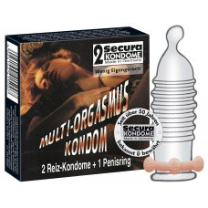 Multi-orgazmus óvszer 2db