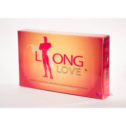 Long Love Késleltető kapszula férfiaknak 4db