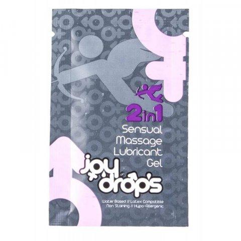Joy Drops 2in1 Masszázs és Síkosító gél - 5ml