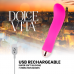 DOLCE VITA RECHARGEABLE VIBRATOR TWO PINK 10 SPEEDS