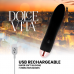 DOLCE VITA RECHARGEABLE VIBRATOR FOUR BLACK 10 SPEEDS