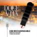 DOLCE VITA RECHARGEABLE VIBRATOR SIX BLACK 10 SPEEDS