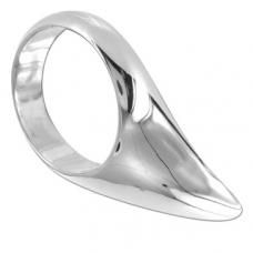 Metalhard vízcsepp kialakítású péniszgyűrű 45mm