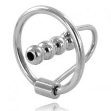 Metalhard péniszgyűrű húgycsőtágítóval
