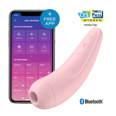 Satisfyer Curvy 2+ - okos, akkus, vízálló csiklóizgató vibrátor (pink)