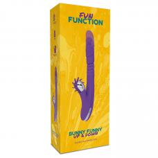 Fun Function Bunny Funny UP & DOWN lökő vibrátor forradalmi klitoriszkarral - lila