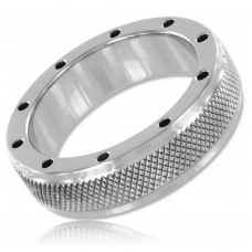 Metalhard Knurling rozsdamentes acél péniszgyűrű 45mm